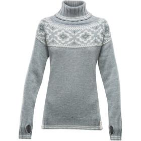 Devold Ona Round Sweater Dames, grijs/beige